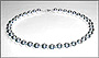"""Large Bead Sterling Silver Beaded (12mm) Necklace (Plus Size 18"""")"""