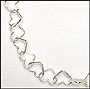 """Tiny Heart Link Silver Necklace (16"""")"""
