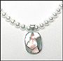 Pearl Necklace with Mother of Pearl Pendant