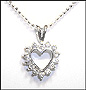 """Open Heart Sterling Silver Necklace 16"""" or 18"""""""