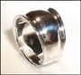 Wide Band Polished Sterling Silver Ring Size 6