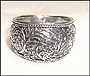 Antiqued Wide Band Embossed Ring (Size 6)