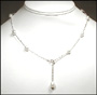 Multi-Color Freshwater Pearl Tin Cup Necklace 17.5""