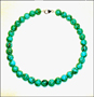 Round Turquoise  Bead Necklace