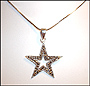 Marcasite Star Necklace with Snake Chain (Plus Size)