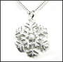 """Snow Flake Silver Necklace 16"""" or 18"""""""