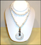 """Howlite Necklace with Pendant (Plus Size  26"""")"""
