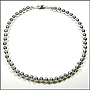 """Sterling Silver Bead (8 mm) Necklace 18"""""""