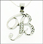 Sterling Silver Script Initial Pendant Necklace
