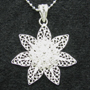 """Sunflower Sterling Silver Woven Necklace 16"""" or 18"""""""