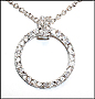 "Sterling Silver Open Circle Necklace 16"" or 18"""