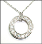 Sterling Silver Open Circle Pendant Necklace