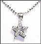 Star Shaped CZ  Necklace in Silver