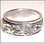 Sterling Silver 3D Dragon Spin Ring (Plus Size 13, 14)