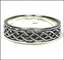 Men's Celtic Wave Knot Silver Band Ring Plus Size 14