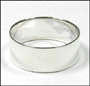 Men's Polished Silver Band Ring Plus Size 14 and 15