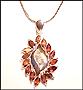 Marquise Garnet Necklace with Snake Chain