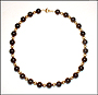 """Black Onyx and Gold Filled Bead Necklace 18"""""""