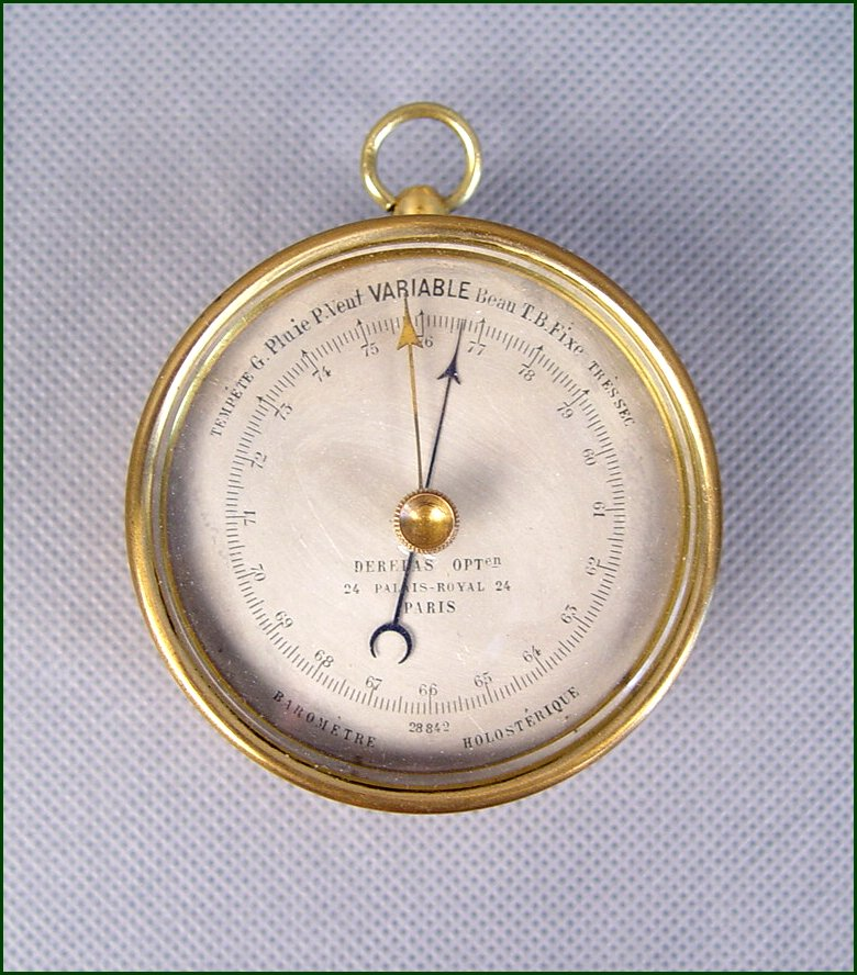 sale french aneroid barometer 39500 fine weather