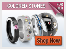 Titanium Rings with Gemstones