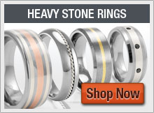 Heavy Stone Rings