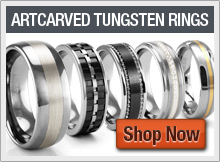 Artcarved Tungsten Rings