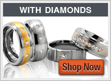 Tungsten Rings -  with Diamonds, the ultimate man's wedding band