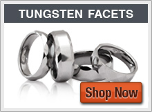 Tungsten Rings  - with Faceted Designs
