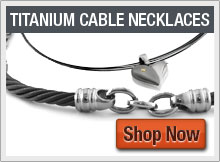 Black Titanium Cable Collection Necklaces