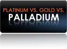 Palladium, Platinum and White Gold Comparison