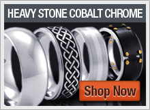 Heavy Stone Cobalt Chrome Rings