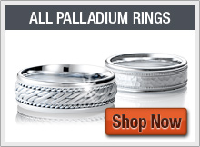 Large Selection of Mens Palladium Wedding Bands