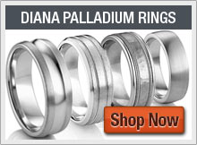Diana Classic Palladium Wedding Bands