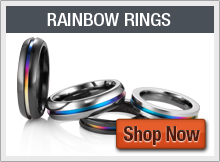 Rainbow Wedding Bands