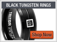 Triton Black Tungsten Rings
