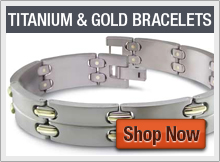 Titanium Bracelets with Gold