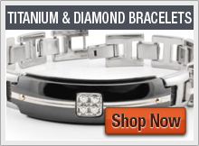 Titanium Bracelets with Diamonds