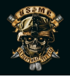 """USMC """"We Fight What You Fear"""" T-Shirt- Style 80420"""