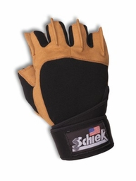 Schiek 425 Power Series Lifting Gloves with Wrist Wraps