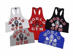 World Gym Fat Strap Y Back Tank Top #TT01