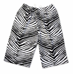 Zubaz Shorts: Black/White Zubaz Zebra Shorts