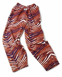 Zubaz Pants: Navy/Orange Zubaz Zebra Pants
