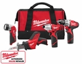 Milwaukee 2498-24 M12 4 Piece Cordless Combo Kit