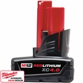 Milwaukee 48-11-2440 M12 Red Lithium 4.0Ah XC Battery