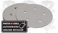 Porter-Cable 735501225 120 Grit Five-Hole, Hook & Loop Sanding Discs