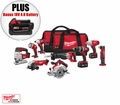 Milwaukee 2696-29 M18 Cordless 9-Piece Combo Kit