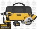 DeWalt DCK250X 18V XRP Hammer Drill/Circular Saw Package