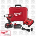 "Milwaukee 2650-22 M18 1/4"" Hex Compact Impact Driver with 2 Batteries"