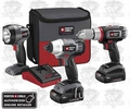 Porter-Cable PCL318IDC-2 Cordless 3-Tool Combo Kit