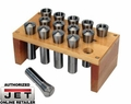 JET 650134 PREMIUM 14 PC R-8 COLLET SET WITH RACK 16TH
